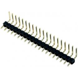 Tira de postes acodado tipo 3 paso 2.54mm