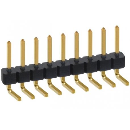 Tiras de Pin Macho Acodado Corto 2.54mm