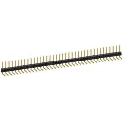 Tira de postes (Pines) paso 2.54mm Recto y Acodado
