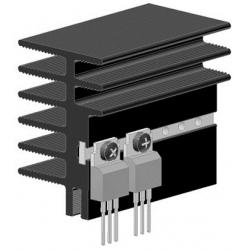 Disipador Térmico de Aletas 45x30x1 Metro