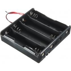 Portapilas Baterías 4x18650 con cables