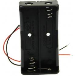 Porta-pilas-Baterías 2x18650 Cables