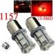 Bombilla LED 1157-P21-5w 13 led Rojo