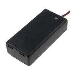 Portapilas con interrupor y tapa Baterías 9v, 6F22