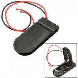 Portapilas con Tapa para 2 Pilas-Baterías CR2032