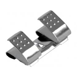 Clip Dobles para Porta-Pilas o Baterías AA/R6 Keystone