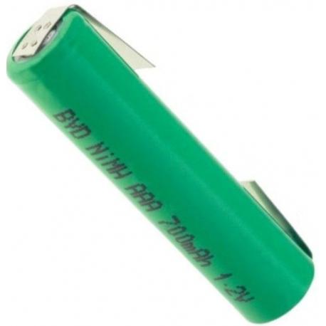 Batería NI-MH BYD Recargable AAA de 1.2v. con lengueta
