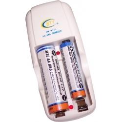 Cargador de viaje de Baterias AA/AAA Ni-Cd-NiMh