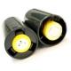 Adaptador Batería-Pila 1-AA a 1 LR14 Negro