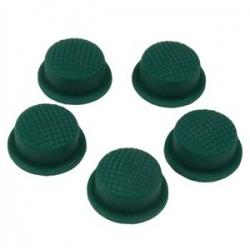 Boton de Goma Rosa 14mm verde
