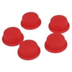 Boton Goma Rojo 20x16x8mm Linternas