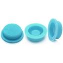 Boton Goma Linternas Azul 17x14x6mm