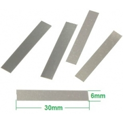 Contactos de Niquel precortados 30x6x0.2mm para pack de Baterías