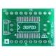 Pcb adaptador SMD-Dip SOIC20-Dip20