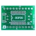 Pcb adaptador SMD Pcb SOIC_20-Dip20