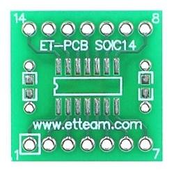 Pcb adaptador SMD-Dip Soic14-LGA14-Dip14