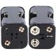 Portapilas baterías 2+2, 4 x AAA, LR03, R3, 10440 Clip6F22