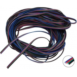 Cables Plano 4 hilos Negro-Verde-Rojo-Azul