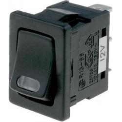 Interruptor basculante (Rocker) 1 pos.con Led