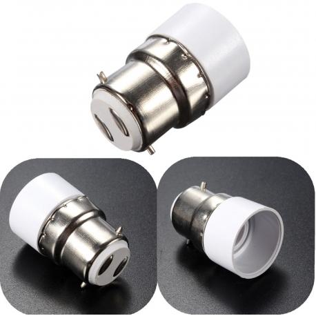 Adaptador alargador de Lámparas B22-E14