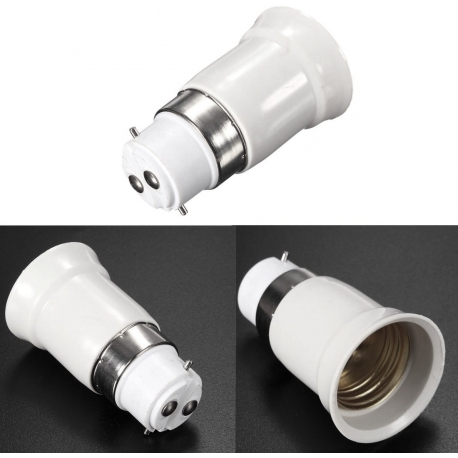 Adaptador alargador de Lámparas B22 a E27