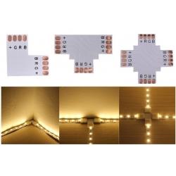 Conector PCB de empalme L de Tiras de Led RGB