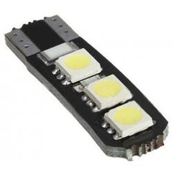 Bombilla LED T10 Canbus 6 Led 5050 SMD 12v