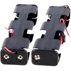 Portapilas baterías alargado cables 4 x AA, LR06, 14500