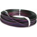 """Rollo Cables Plano de colores """"Flat cable"""" de 4 hilos"""