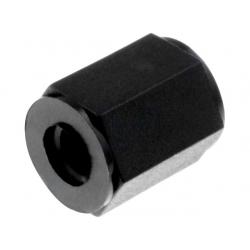 Separador hexagonal Poliamida Negra M3 rosca interior