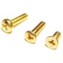 Tornillos M3 de Metal Dorados