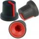 Botón de mando Bicolor Plastico-Goma de 16.8x13.9mm