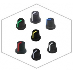 Botónes de mando para potenciometros 16.8x13.9mm