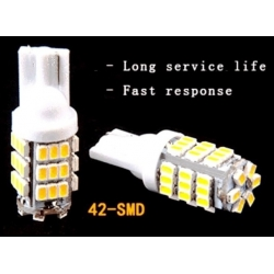 Bombillas T10 de 42 Led SMD 1210-12v