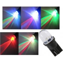 "LED T10 W5W 1 Led Redondo Rainbow ""Arco Iris"" 12v"