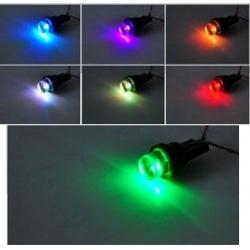"""LED T10 W5W 1 Led inverted Rainbow """"Arco Iris"""" 12v"""