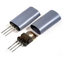 Tubo Aislante de silicona para transistor TOxx