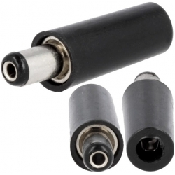 Conector Jack macho de alimentación 5.5-2.5-10mm
