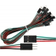 Conector cableado Dupont paso 2.54mm Macho-Hembra 3 pin