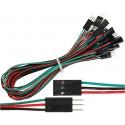 Conectores Dupont Macho-Hembra 2.54mm Cables 300mm 1 a 6 pin
