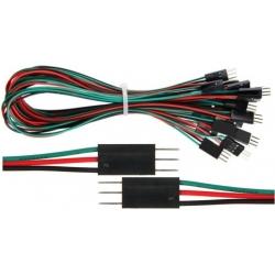 Conector cableado Dupont paso 2.54mm Macho-Macho 3pin