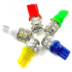 Bombillas T10 de 10 Led Smd-1210, 12v
