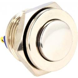 Pulsador de panel Antivandalos 16mm-Latón