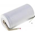 Batería NI-CD Recargable D-R20 1.2v.4A. con lengueta