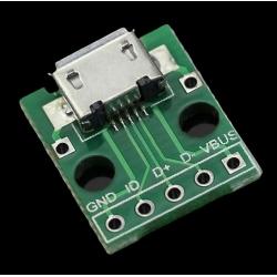 Pcb 14x14mm Micro USB-B Hembra