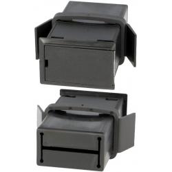 Portapilas Pilas/Baterías empotrable con tapa 1x9v/2xR6