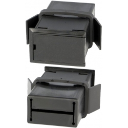 Portapilas Pilas/Baterías empotrable con tapa 1x9v 6F22 o 2xR6
