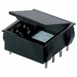 Portapilas Pilas/Baterías empotrable con tapa 2x9v/4xR6