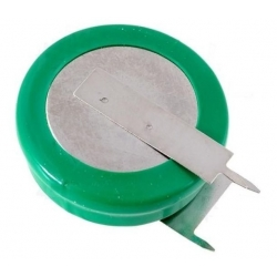 Batería NI-MH Recargable Tipo Boton 1.2v 320mA con lengueta