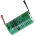 Batería NI-MH Recargable 2/3 de AA 2.4v 300mA con lengueta